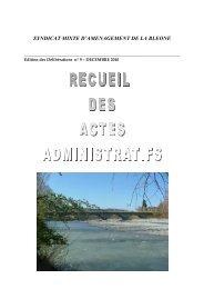 Receuil des actes administratifs 2010 - Syndicat Mixte d ...