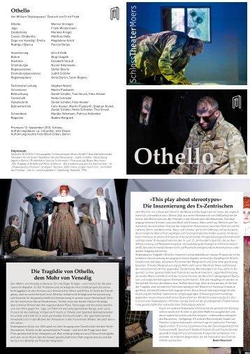 Hier geht's zum Programmheft Othello! - Schlosstheater Moers