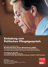 Einladung zum Solinger Pfingstgespräch mit Franz Müntefering am ...