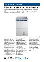 Untertischmaschinen mit Enthärter - Electrolux