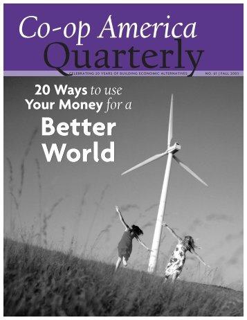 Better World - Green America