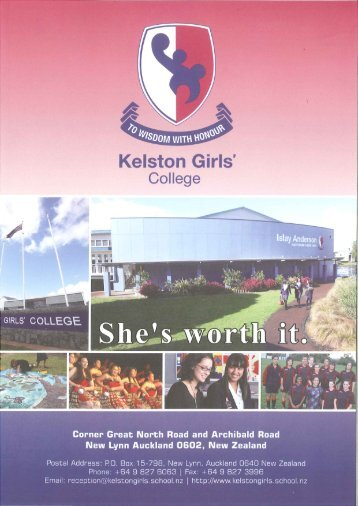 March 2013 (2.35 MB) - Kelston Girls