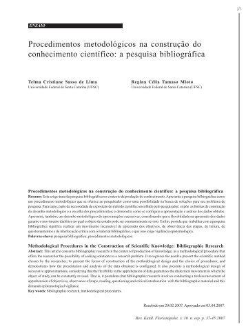 Katalysis Edição Especial 2007 teste - SciELO