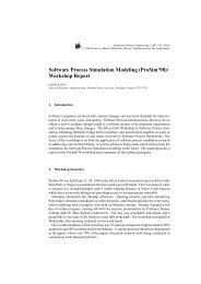 Software Process Simulation Modeling (ProSim'98): Workshop Report