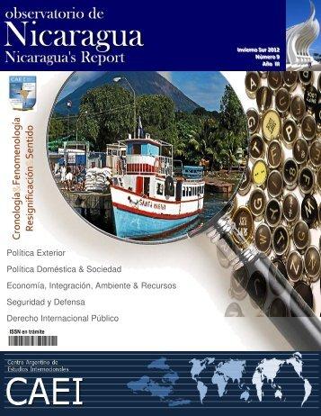 Observatorio de Nicaragua, Nº9; Invierno sur 2012 - CAEI