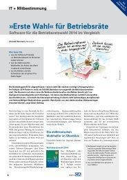 Software für die Betriebsratswahl 2014 im Vergleich - Buch & Mehr ...