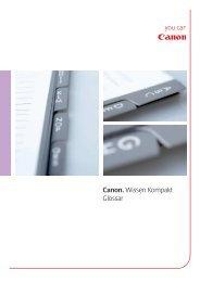 Canon. Wissen Kompakt Glossar - Canon Deutschland