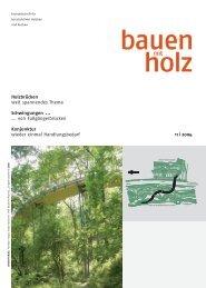 Holzbrücken weit spannendes Thema Schwingungen ... ... von ...