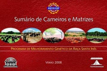 Sumário de Carneiros e Matrizes 2008 - USP