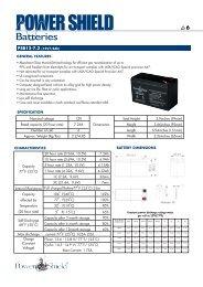 PowerShield Batteries Brochure