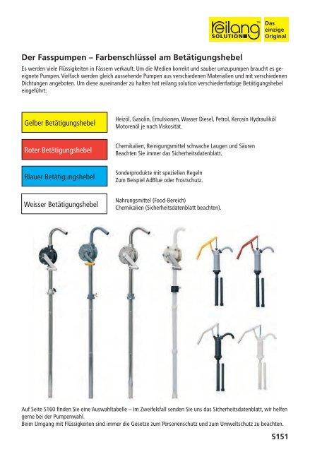 Fasspumpen von Hand, elektrisch und pneumatisch