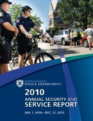 2010 Annual Security and Service Report - Xavier University