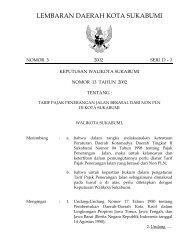 penetapan badan pengawas perusahaan daerah - Pemerintah Kota ...