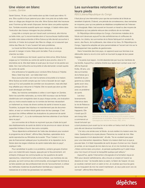 Monde Tanzanie - Campaign to End Fistula