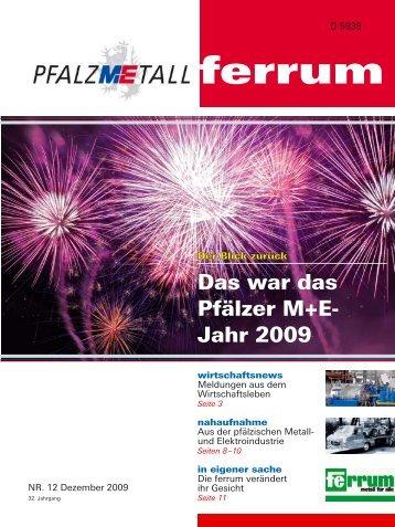 ferrum Ausgabe 12-2009 (661.78 kB) - PfalzMetall