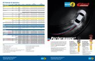 B12 Passenger Car Applications - Bilstein