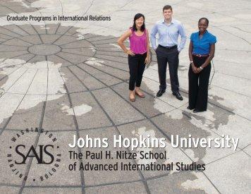 SAIS brochure - Bologna Center