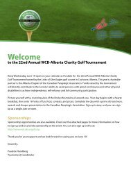 Charity Golf Tournament 2013 Sponsorship Opportunities