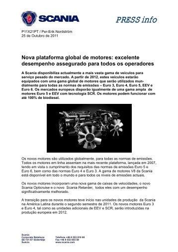 Nova plataforma global de motores: excelente ... - Scania