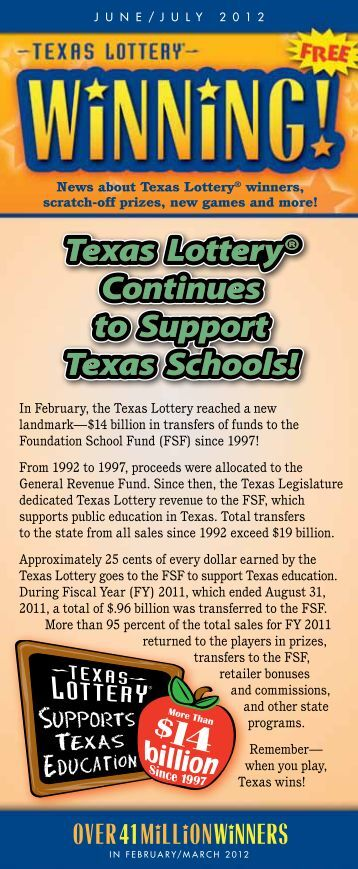 June-July 2012 - Texas Lottery