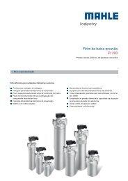 Filtro de baixa pressão Pi 200 - MAHLE Industry - Filtration