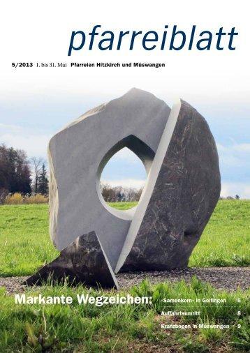 5/2013 1. bis 31. Mai Pfarreien Hitzkirch und ... - Pfarrei Hitzkirch
