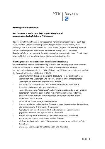 Hintergrundinformation - PTK Bayern