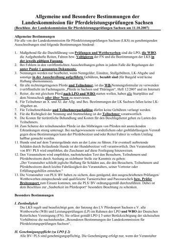 allgemeineundbesonder ebestimmungender - Landesverbandes ...
