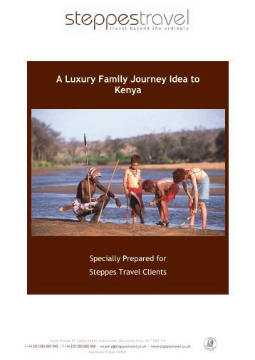 A Luxury Family Journey Idea to Kenya - Steppes Travel