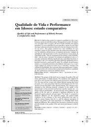 Qualidade de Vida e Performance em Idosos: estudo ... - Unimep