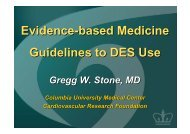 Evidence-based Medicine Guidelines to DES Use - summitMD.com