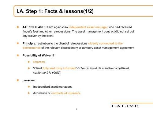 presentations - Lalive
