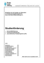 Richtlinien Studienförderung - WiWi-Online