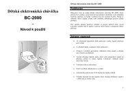 Dětská elektronická chůvička BC-2000 – Návod k použití