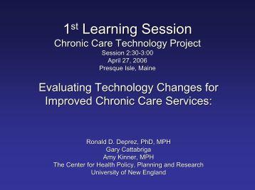 Learning Session - University of New England