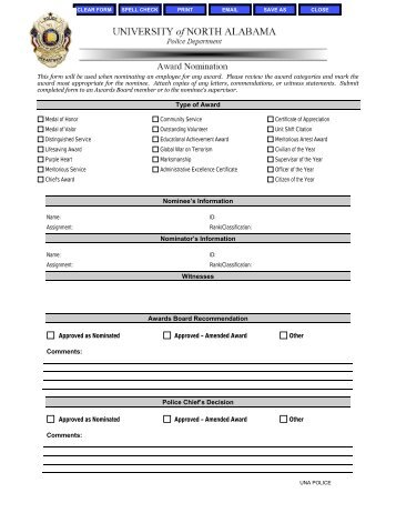 Personnel Action Form Instructions - University of North Alabama
