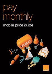 pay monthly price guide - Orange
