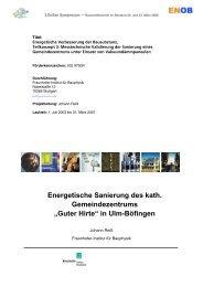 in Ulm-Böfingen - Energetische Sanierung der Bausubstanz - EnSan