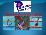 Sponsorship Information - Pickering Swim Club