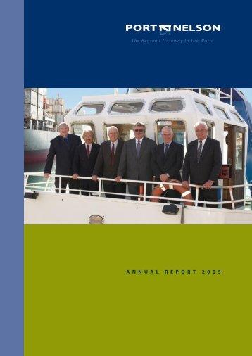Port Nelson Annual Report 2005 (pdf)