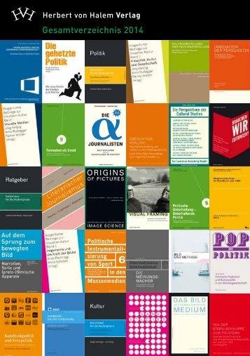 Gesamtverzeichnis 2014 - Herbert von Halem Verlag