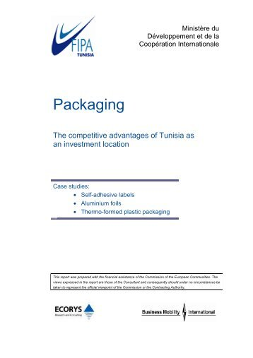 Packaging - Invest in Tunisia, The Foreign Investment Promotion ...
