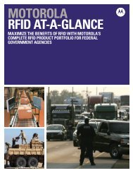 RFID At-A-Glance - Motorola Solutions