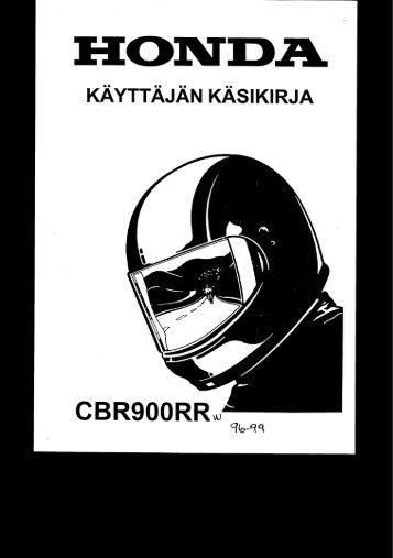 CBR900RR 1996-99 käsikirja (.pdf, 2.25 MB) - Honda