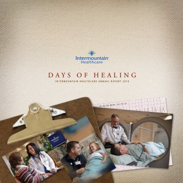 Annual Report to the Community 2010 - Intermountain Healthcare