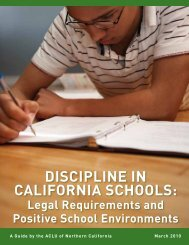 Discipline in California Schools: Legal Requirements and - ACLU of ...