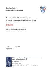 5. änderung des flächennutzungsplans - Gemeinde Iffeldorf
