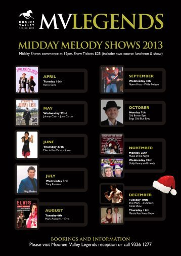 the complete 2013 Midday Melody program. - Moonee Valley ...