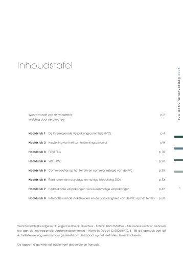 Activiteitenverslag 2005 - Interregionale Verpakkingscommissie