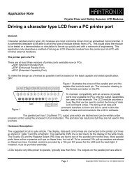 Driving a character type LCD from a PC printer port - Hantronix, Inc